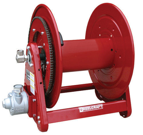 """REELCRAFT AA32112 L4A 1//2/"""" x 200ft 1000 psi Air Motor Driven Reel without Hose"""