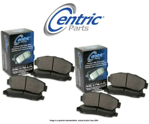 FRONT + REAR SET Centric Parts Semi-Metallic Disc Brake Pads CT98736