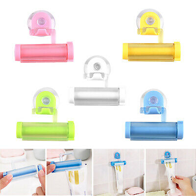 Rolling Squeezer Toothpaste Dispenser Tube Partner Sucker Hang Holder Roller L