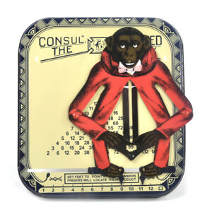 Consul The Educated Monkey Mechanical Mutiplication Calculator Tin Toy Germany
