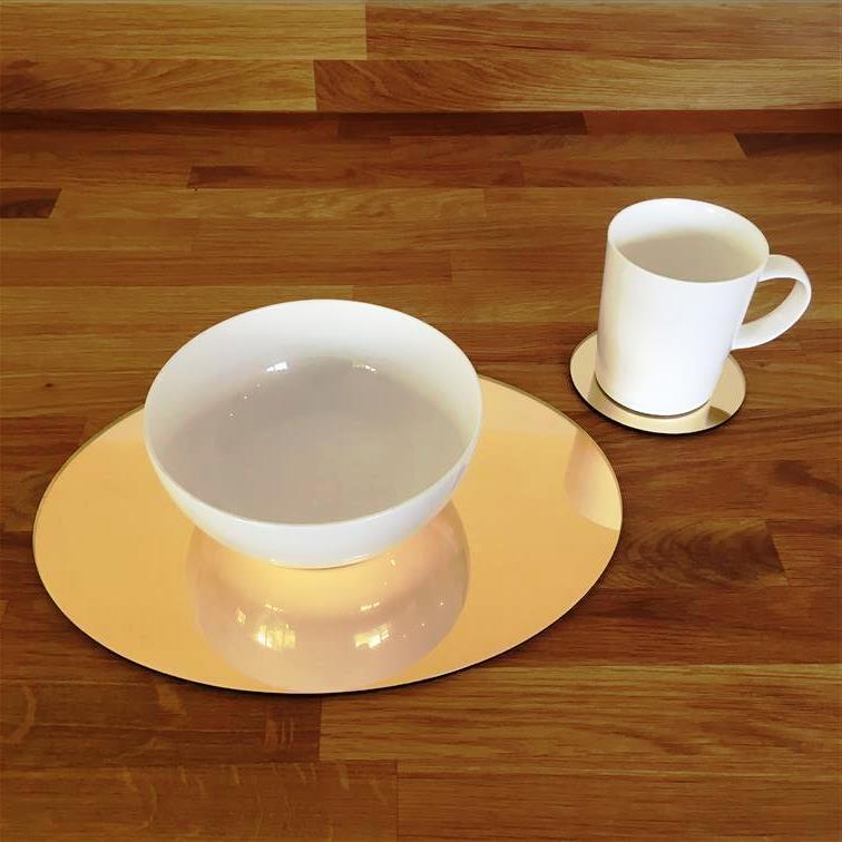 De Forme Ovale Or Miroir Acrylique Sets de Table & Sous-verres, tailles 11.5x9  ou 16x12