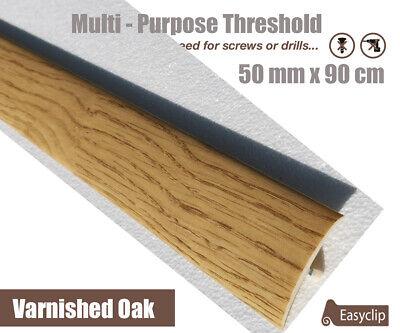 Varnished Oak Multi Floor Threshold Strip 50mmx90cm Multi Height