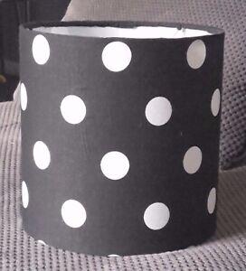 Black with white polka dot lampshade ebay image is loading black with white polka dot lampshade aloadofball Gallery