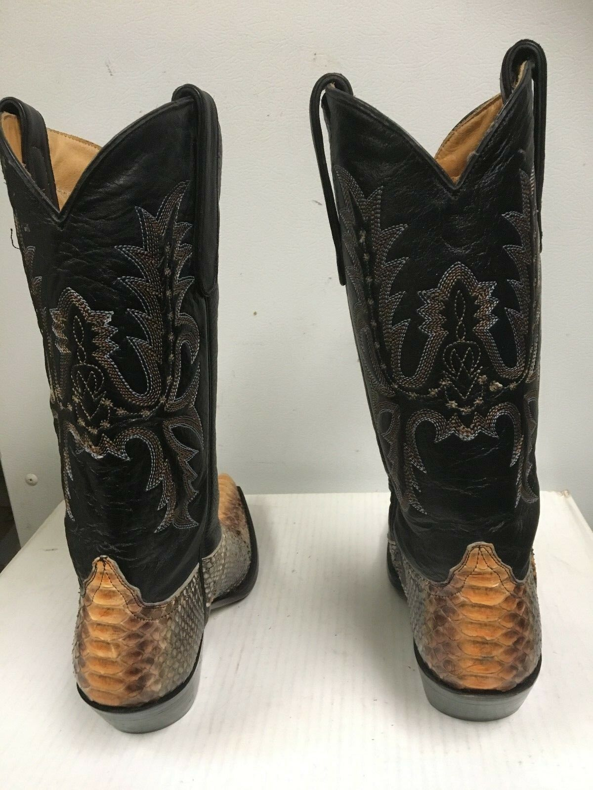 Star Boots Women's Exotic Snake Skin Python Leather    W9208 Size US 7 B NEW 9c7838
