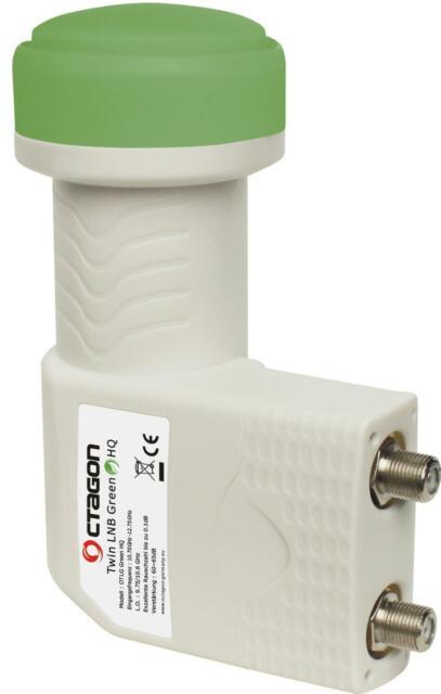 Octagon Green Twin OTLG 0 1dB LNB Sensitive PLL Technology 25 MHZ Crystal
