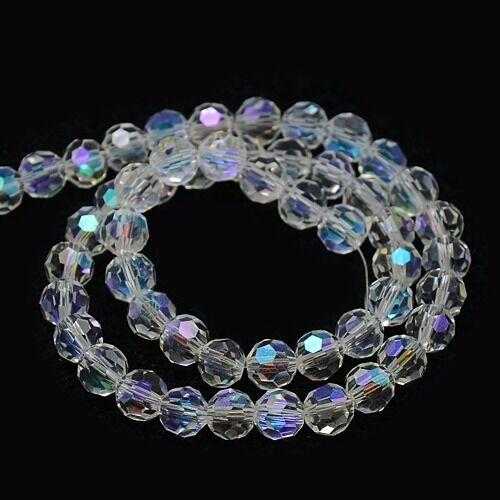 45 Cristal Tchèque Perles à partir de 8 mm Boule Cristal Taille perles mode x182#3