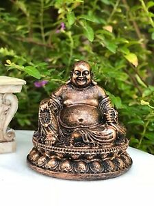 2 Dollhouse Miniature Unfinished Metal 1//2 Scale Buddha Statue