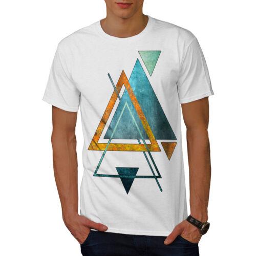 Shape Graphic Design Printed Tee Wellcoda Abstract Triangle Mens T-shirt