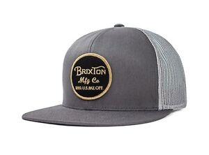 BRIXTON-WHEELER-MESH-SNAPBACK-CAP-GREY-BLACK