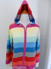 GAP FULL ZIP KNIT SWEATER HOODIE JACKET sz M womens colorful striped  ^2353
