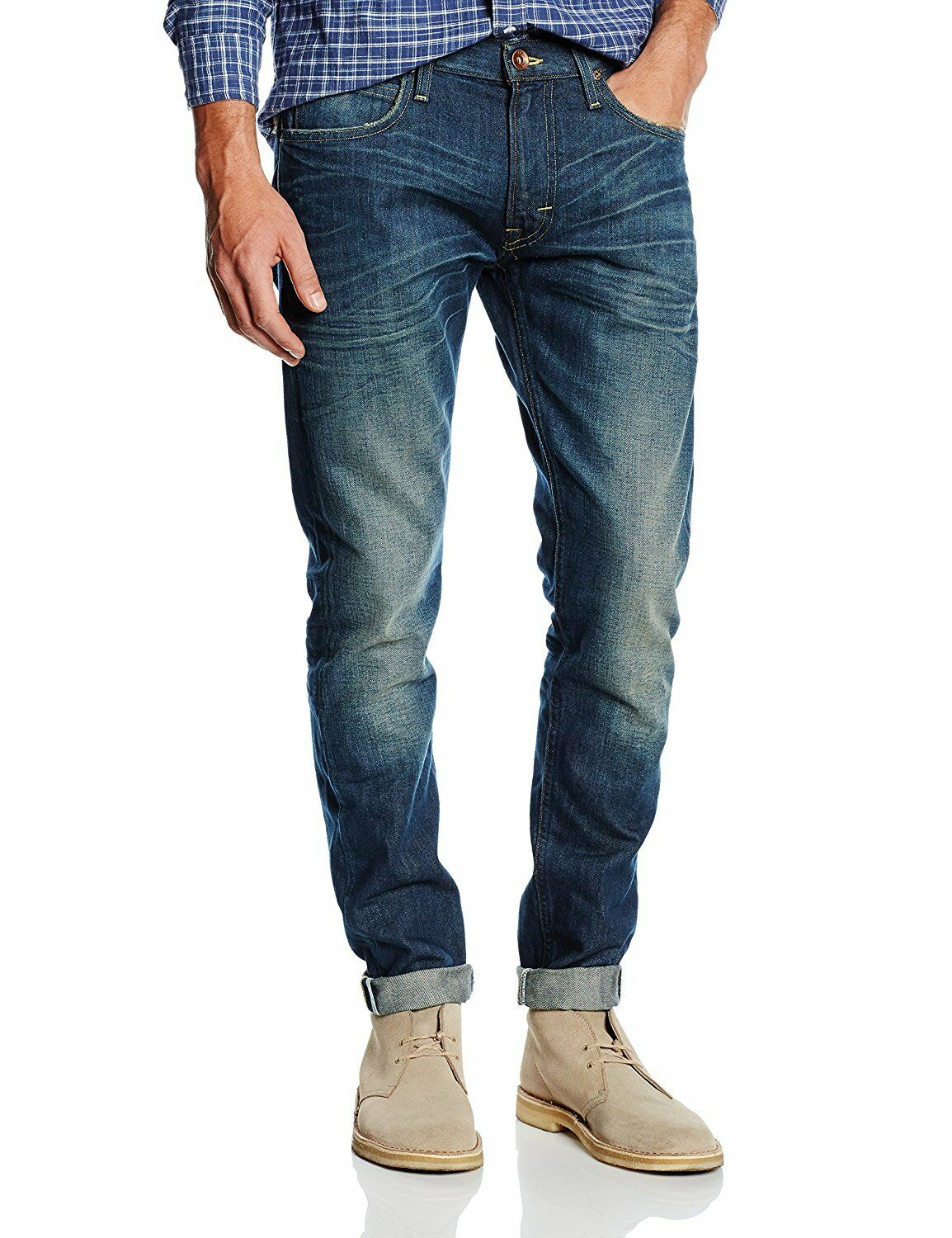 Lee Lee Lee Luke, slim fit, tapered leg, w30 l34, Pargola worn, 30 34, vintage-blu 337ff2