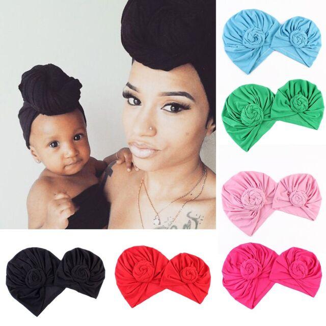 0785cec26 Baby Twist Knot Bonnet Hijab Women Indian Style Turban Cap Hat Head Scarf  Wrap
