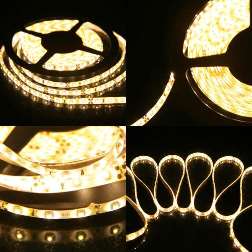 1M-20M SMD 3528 300Leds Waterproof Flexible Warm Cool White LED Strip Light 12V