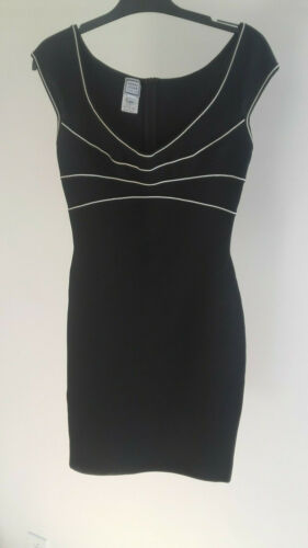 HERVE LEGER robe noire bodycon dress Small