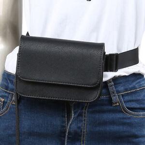 Women-039-s-PU-Leather-Mini-Belt-Bag-Waist-Fanny-Pack-Key-Phone-Purse-Wallet-Black