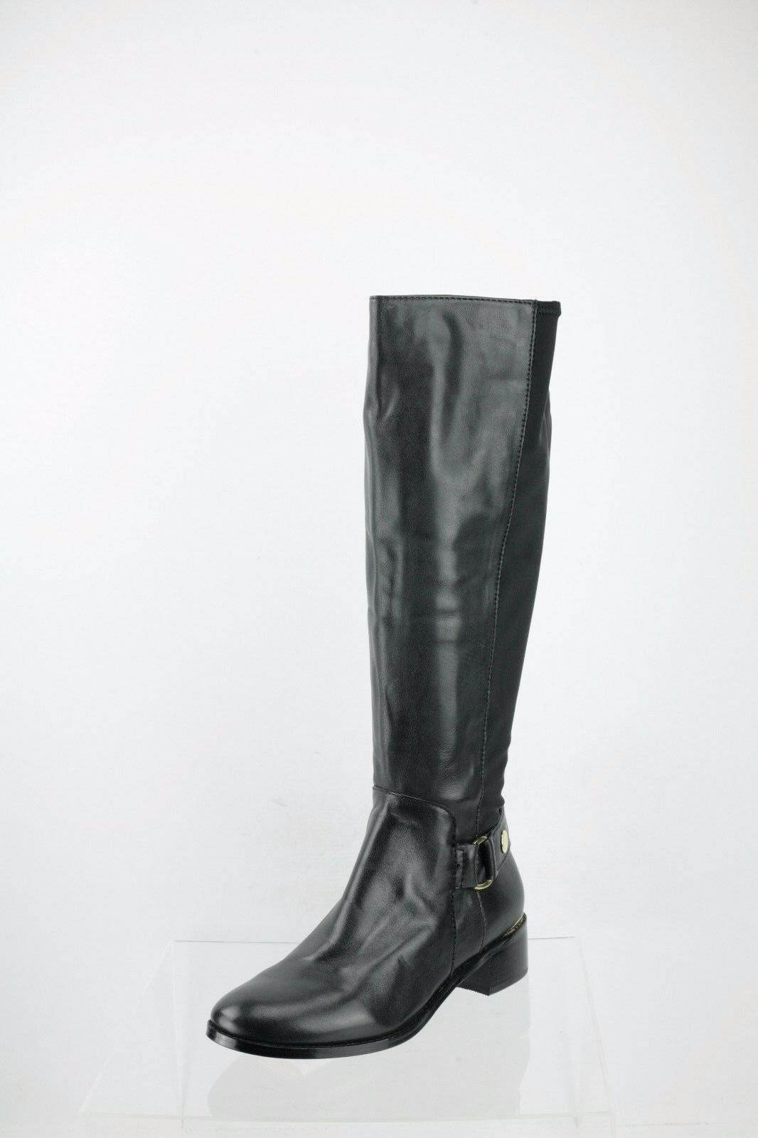 Steve Madden Ryyder Tall Moto Black Knee High Boots Women's Shoes Size 8 M NEW