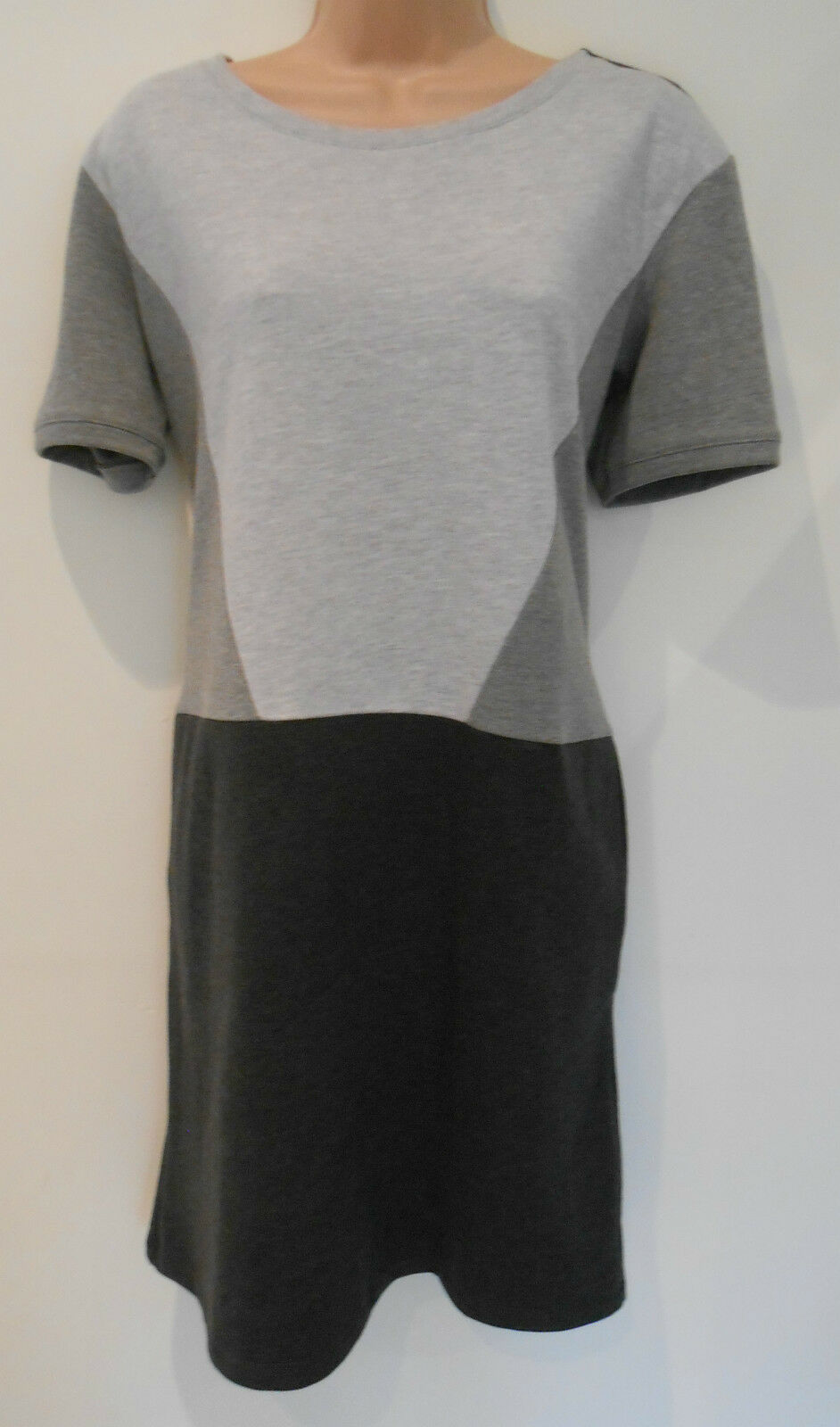 M&S Collection Grey Mix Straight Day Evening Dress-UK Size 14 Regular (NEW)