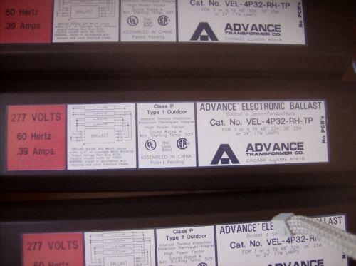 ADVANCE VEL-4P32-RH-TP BALLAST