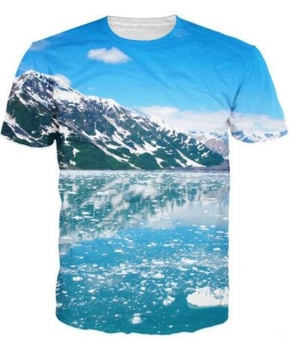 New Fashion Womens//Mens Beautiful Alaska Funny 3D Print Casual T-Shirt UK1409