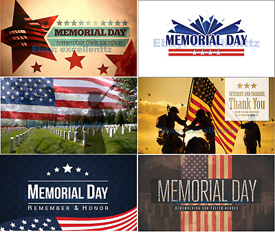 Memorial Day 2019 Flag Size 3x5ft 90x150cm Free Shipping Ebay