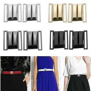 2 Pairs/_Alloy Combined Button Clasps Decor Belt Buckle Clasps for Coat Jacket