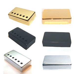 metal humbucker guitar pickup covers caps parts silver black or gold ebay. Black Bedroom Furniture Sets. Home Design Ideas