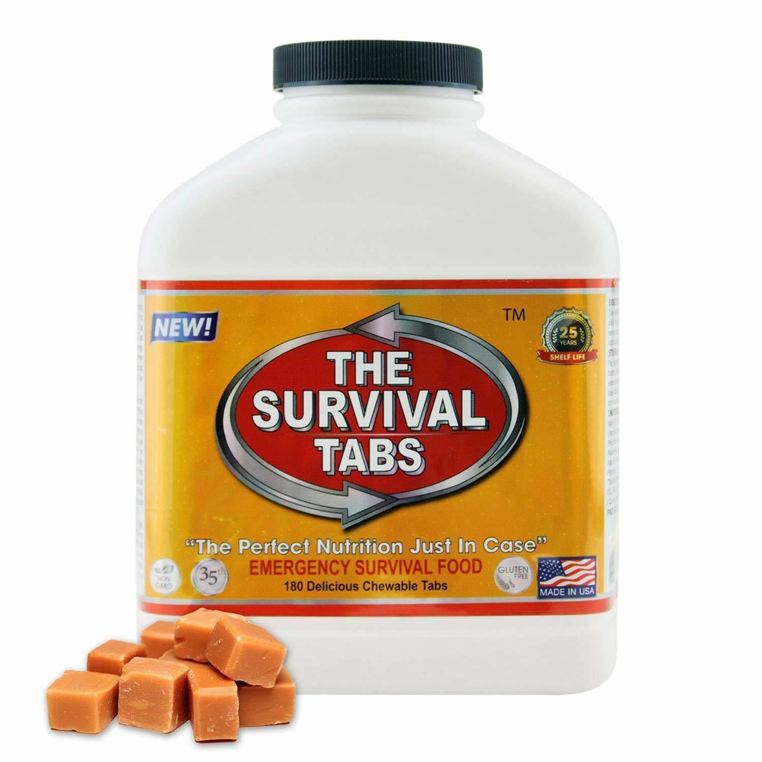 180 Survival Tabs Earth Quake Emergency Preparation Food 15 Days Butterscotch
