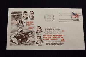 Space-Cover-1980-Macchina-Annullo-Postale-STS-1-Astronauti-Pratica-Acqua-Sbarco