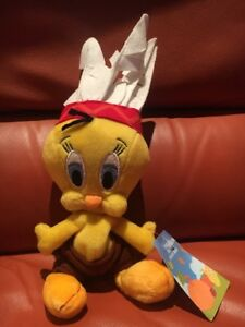 HALLOWEEN-1-BEANIE-PLUSH-TY-DISNEY-WARNER-BROTHERS-TWEETY-INDIAN