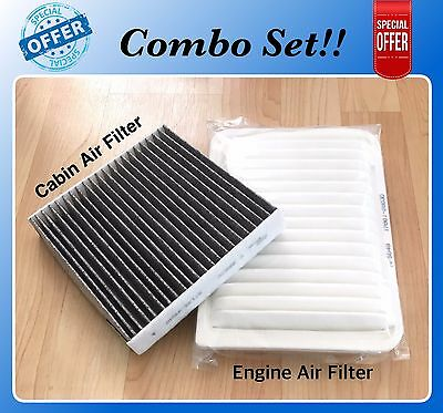 Fit for Venza 2.7L 2009-2016 Toyota Camry 2.5L 2007-2017 Engine Cabin Air Filter