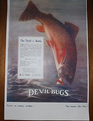 BROOK TROUT Poster 11x17 HOME OFFICE CABIN MAN CAVE ART DECOR
