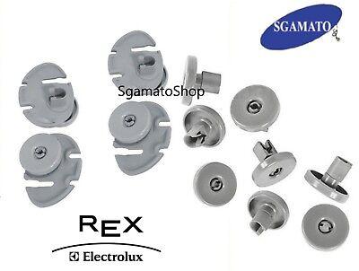 REX ELECTROLUX Kit da 8 Ruote Rotelle per Cestello Inferiore Lavastoviglie TTC