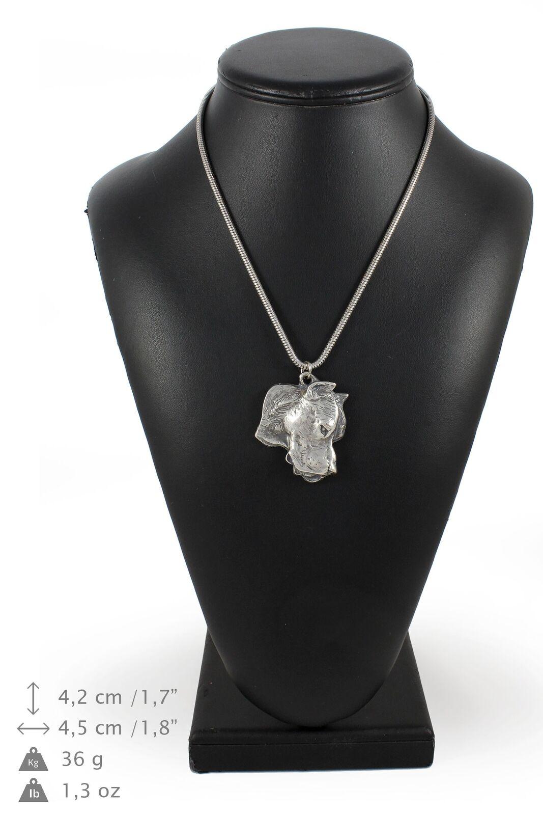 Dogo argentoino - collana con un cane su una una una catena d'argentoo Art Dog IT b4bc37