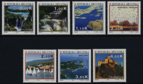Croatia 196-202 MNH Tourism, National Park, Castle, Yachts, Waterfall