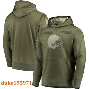 new concept 5fa84 1b905 Details about Nike 2018 NFL Cleveland Browns Salute to Service Hoodie Baker  Mayfield Medium