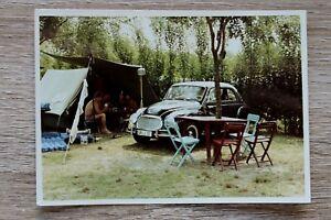 1x-Foto-Auto-Oldtimer-DKW-Auto-Union-1960er-Urlaub-Classic-Car-Camping-Platz