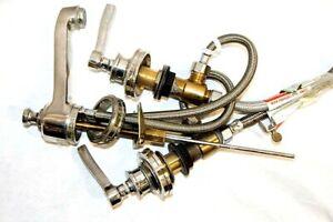 Restoration-Hardware-Widespread-Sink-Bath-Faucet-8-034-w-Lever-Handles-Bathroom