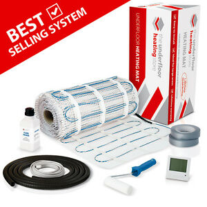 Electric Underfloor Heating mat kit 150w per m2 All Sizes in this Listing