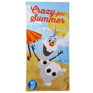 Disney-039-s-Frozen-Olaf-039-039-Crazy-For-Summer-039-039-Beach-Towel-NWT-100-COTTON