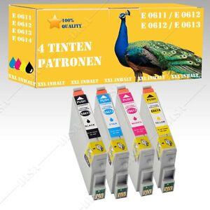 4x-non-original-Tintepatronen-fuer-Epson-Stylus-DX3850-Plus-DX4200-DiSa-Serie