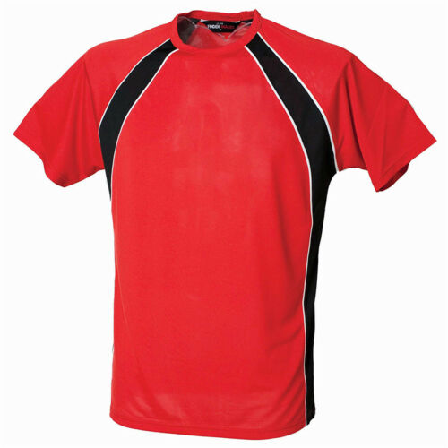 Finden /& Hales LV250 Jersey Team T-Shirt Cool Sports Wear Short Sleeves Mens Tee