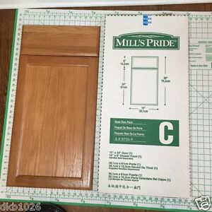 Solid oak door drawer set to fit 15x30 cabinets mills for Mills pride kitchen cabinets