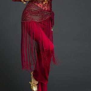 Belly-Dance-Costume-Tribal-Tassel-Hip-Scarf-Wrap-Belt-Skirt-Fringes-Waist-Shawl