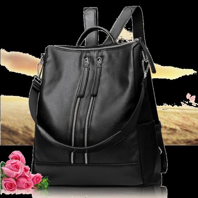 5cbd9f2877a Women Lady Leather Backpack Handbag Girls Shoulder Travel School Bag  Rucksack