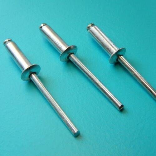 50 Stk Blindnieten 5x20 Stahl//Stahl Flachkopf   5,0x20 NEU