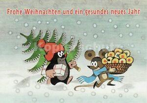 weihnachtskarte postkarte der kleine maulwurf mit maus. Black Bedroom Furniture Sets. Home Design Ideas