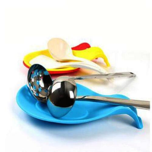 5 Pcs Spoon Rest Heat Resistant Silicone Spoon Mat Spoon Pad for Kitchen CF