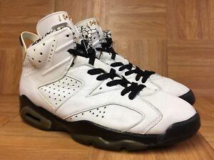 RARE-Nike-Air-Jordan-6-VI-White-Leather-Black-Motor-Sport-Retro-9-5-395866-101