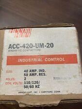New Arrow Hart Acc420um20 Magnetic Contactor 40a 2p 120v Coil