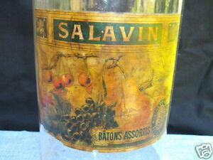 Ancien Bocal En Verre De La Marque Sj Salavin Paris - Tres Rare - Bocal Fruits Solz1qaz-07224602-539821221
